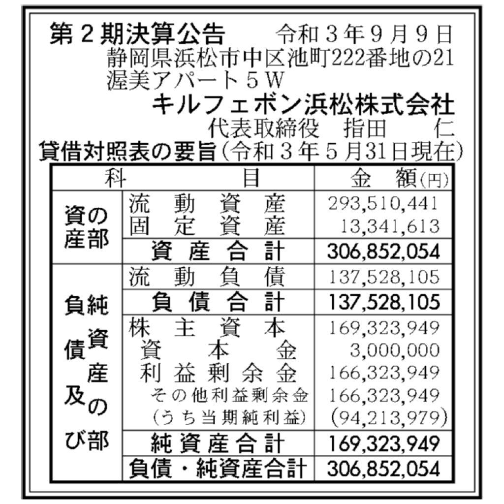 キルフェボン浜松_決算公告